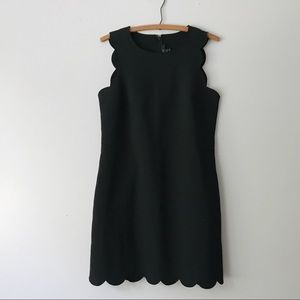 J Crew Black Scalloped Shift Dress - 4